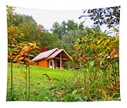 Fall Cabin Tapestry