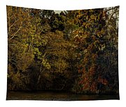 Fall Color Trees V9 Pano Tapestry