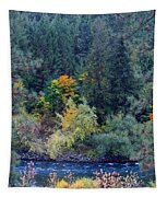Fall Colors By The Spokane River Tapestry