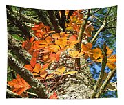 Fall Ivy On Pine Tree Tapestry