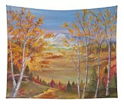 Fall Mountain Path Tapestry