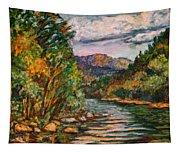 Fall New River Scene Tapestry