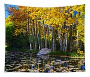 Fall Pond In Mammoth Tapestry