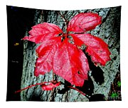 Fall Red Leaf Tapestry
