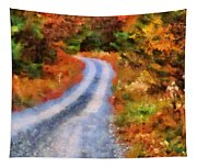 Fall Road To Paradise Tapestry