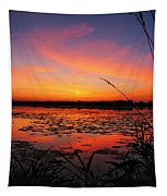 Fall Sunset In The Mead Wildlife Area Tapestry