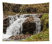Fall Time Waterfalls Tapestry
