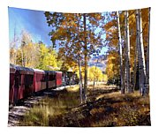 Fall Train Ride New Mexico Tapestry