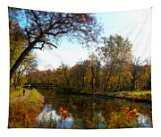 Fall Water Reflections Tapestry