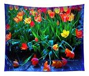 Fallen Tulips Tapestry