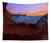 False Kiva Sunset Tapestry