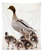 Family Of Ducks Tapestry