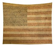 Famous Patriotic Quotes American Flag Word Art Tapestry