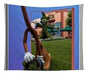 Fantasia Mickey And Broom Floral Walt Disney World Hollywood Studios Tapestry