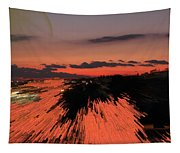 Fantastic Space Sunset Tapestry