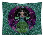 Fantasy Cat Fairy Lady On A Date With Yoda. Tapestry