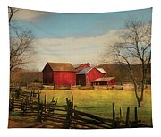Farm - Barn - Just Up The Path Tapestry