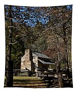 Farm Cabin Cades Cove Tennessee Tapestry