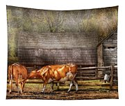 Farm - Cow - A Couple Of Cows Tapestry
