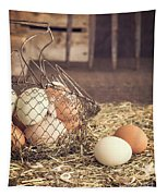 Farm Fresh Eggs Tapestry