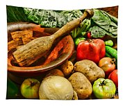 Farm Fresh Food In A Country Kitchen Tapestry