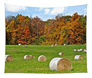 Farm Fresh Hay Tapestry
