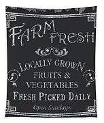 Farm Fresh Sign Tapestry
