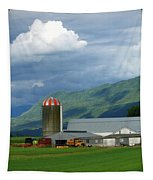 Farm In The Valley Tapestry