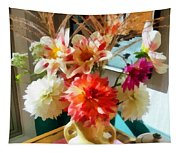 Farm Table Bouquet Tapestry