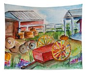 Farmers Backyard Tapestry