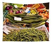 Farmers Market Florence Italy Tapestry