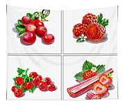 Farmers Market Gifts Red Vitamins Tapestry