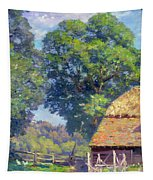Farmyard With Poultry Tapestry