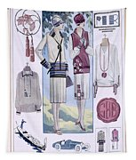 Fashion Plate, From La Femme Chic Tapestry