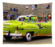 Fast And Furious In Cuba Tapestry
