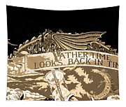 Father Time Looks Back Tapestry