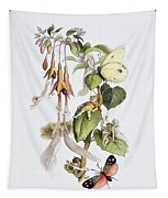 Feasting And Fun Among The Fuschias Tapestry