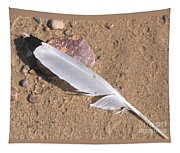 Feather On Damp Sand Tapestry