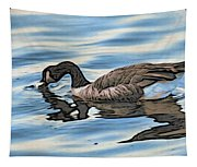 Feeding Goose Tapestry