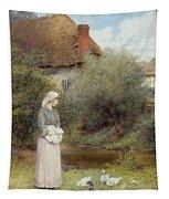 Feeding The Ducks Tapestry