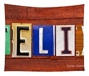 Felix License Plate Name Sign Fun Kid Room Decor Tapestry