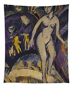 Female Nude With Hot Tub Tapestry