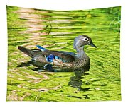 Female Wood Duck Tapestry