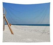 Fence On The Beach Tapestry