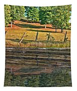 Fence Reflection Tapestry