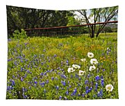 Fenceline Wildflowers Tapestry