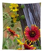 Fenceline Wildflowers Tapestry