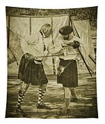 Fencing Practice Tapestry