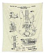 Fender Guitar 1961 Patent Art Tapestry