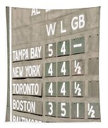 Fenway Park Al East Scoreboard Standings Tapestry